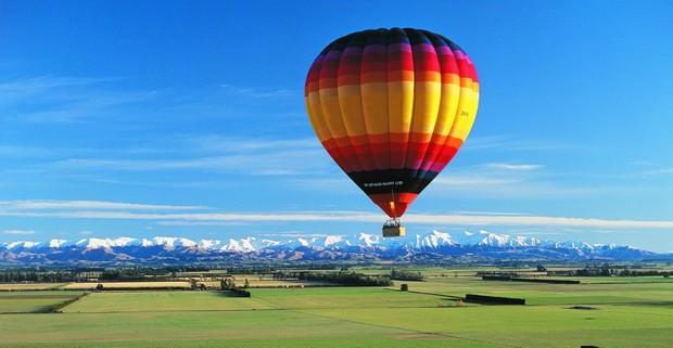 Romántico vuelo en globo